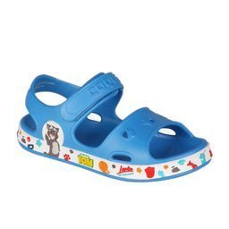 Kindersandalen COQUI FOBEE TT&F Sea blue/White